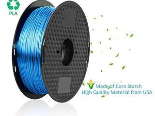 3D Printer Filament 1 75mm  Silk Blue PlA Filament 1 75mm 1kg 2 2lbs 1 Spool MCHYI