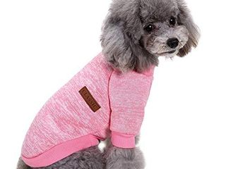 CHBORlESS Pet Dog Classic Knitwear Sweater Warm Winter Puppy Pet Coat Soft Sweater Clothing for Small Dogs  M  Pink