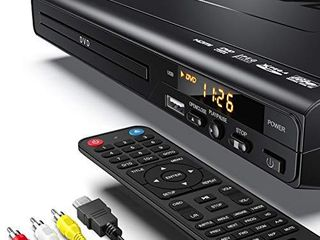 DVD Player  ElECTCOM DVD Players for TV with HDMI  Mini DVD Player for Smart TV  Region Free DVD Player USB