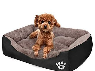PUPPBUDD Pet Dog Bed for Medium Dogs XXl large for large Dogs Dog Bed with Machine Washable Comfortable and Safety for Medium and large Dogs Or Multiple  l Small 27 6 x19 7  Black