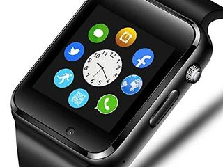321OU Smart Watch Compatible Android and iOS Phone with SIM SD Card Slot Camera Android Smartwatch Touch Screen Bluetooth Smart Watch for Men Kids Women  Black