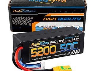 Powerhobby 4S 14 8V 5200mAh 50C 100C lipo Battery Hard Case 4 Cell w XT90 Plug Fits   Arrma Kraton Typhon Tailon Senton OUTCAST