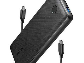 Anker USB C Power Bank  PowerCore Essential 20000 PD  18W  Power Bank  High Cell Capacity 20000mAh Portable Charger Battery Pack for iPhone 12 Mini Pro Max Pro 11 X  Samsung  PD Charger Not Included