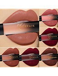 NICEFACE Matte lipstick Gloss set  6 pcs Waterproof Matte liquid lipstick long lasting lip Gloss