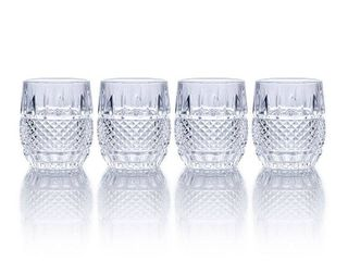 Set of 4 Clear Mikasa Delano 10 oz  Double Old Fashioned  Set of 4