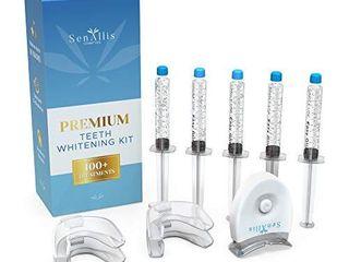 SenAllis Cosmetics Premium Teeth Whitening Kit  5  35  10ml Syringes  lED light   4  Mouth Trays