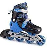 Bounce Adjustable Inline Skates For Kids   4 Wheel Blades Roller Skates