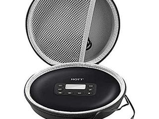 Portable CD Player Case Compatible with GPX PC332Ba PC807Ba NAVISKAUTOaGuerayaHOTTaMonodealaJensen Personal Compact Disc Player  Travel Carrying Stoarge Holder for Earphone and USB Cable   Black