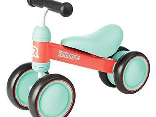 Retrospec Cricket Baby Walker Balance bike with 4 Wheels for ages 12 24 months  3659  Watermelon  One Size