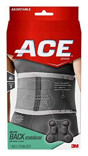 ACE Deluxe Back Stabilizer  with lumbar Support  Back Brace  Doctor Developed  Adjustable  Helps with Herniated Discs and Sciatica