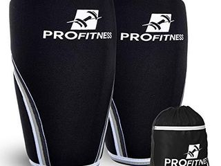 ProFitness Squat Knee Support and Compression for Powerlifting  Black  XX large