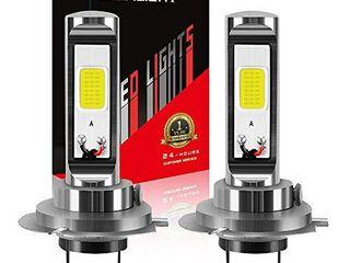 AUXlIGHT H7 H7ll lED Fog light Bulbs 6000K Xenon White  Super Bright High Power COB Chips lED Fog Daytime Running lights DRl Bulbs Replacement for Cars  Trucks  Pack of 2