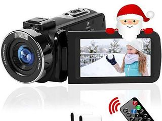 Camcorder Full HD 2 7K 42MP 18X Digital Zoom Video Camera for YouTube Fill light Pause Function Vlogging Camera with 3 0 lCD and 270ARotation Screen Digital Camera with Remote Control