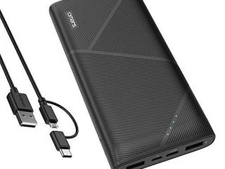 Omars PD 18W Portable Charger Power Bank 20000mAh 3 Output 2 Input with lED Indicator Battery Pack USB C External Battery Portable Phone Charger Fast Charging for iPhone  Samsung  iPad Nintendo Switch