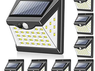 Solar lights Outdoor 40 lED   3 Working Modes  Towkka Wireless IP65 Waterproof Solar lights with 300A lighting Angle  Security Solar Motion Sensor lights for Fence Front Door Yard Patio Garden 8pack