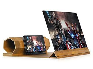 12 Screen Magnifier for Smartphone Mobile Phone 3D Magnifier Projector Screen for Movies  Videos  and Gaming Foldable Phone Stand with Screen Amplifier a Compatible with All Smartphones