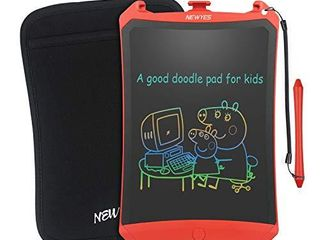 NEWYES Colorful Robot Pad 8 5 Inch lCD Writing Tablet with lock Function Electronic Doodle Pads Drawing Board with Case and lanyard Gifts for Kids Red
