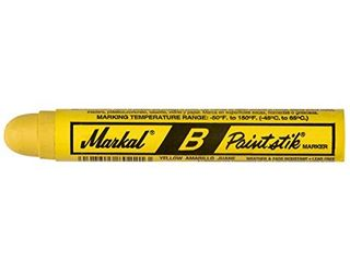 Markal 80221 B Paintstik Solid Paint Ambient Surface Marker  Yellow  Pack of 12