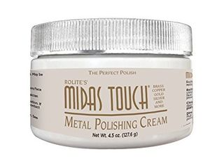 Rolite   MTMPC45z Midas Touch Metal Polishing Cream   Cleaner and Polishing Rouge for Sterling Silver  Gold  Brass  Chrome  Copper  and Other Metals  Non Toxic Formula  4 5 Ounces  1 Pack