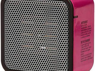 500 Watt Ceramic Small Space Personal Mini Heater   Pink