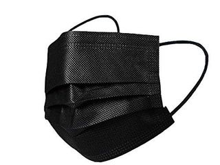 Novacciva 50 Pcs Face mask Disposable 3 ply for Personal Health and Dust Protection Black
