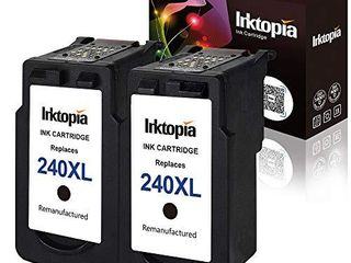 Inktopia Remanufactured Ink Cartridges Replacement for Canon PG 240Xl 240Xl  2 Black  High Yield for Canon PIXMA MG3620 MG3520 MX532 MX472 MX452 MG3220 MG2220 MG2120 MX392 MX432 MX512 MG3522 MG3620