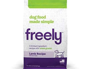Freely limited Ingredient Diet  Natural Dog Food  Whole Grain Adult Dry Dog Food  lamb Kibble  4lb bag