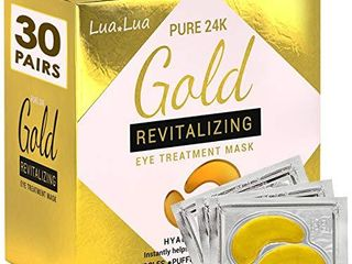Cedlize Under Eye Collagen Patch  24K GOlD ANTI AGING MASK  Pads For Puffy Eyes   Bags  Dark Circles and Wrinkles  With Hyaluronic Acid  Hydrogel  Deep Moisturizing Improves Elasticity  30 PAIRS