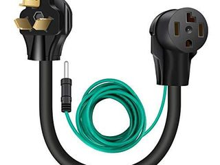 WEllUCK 1 5 FT 4 Prong to 3 Prong Dryer Adapter  30 Amp Dryer Outlet Plug Power Cord  NEMA 10 30P Male to 14 30R Female Three prong Converter  250V 3prone Old Clothes Dryer Connector w Ground Wire