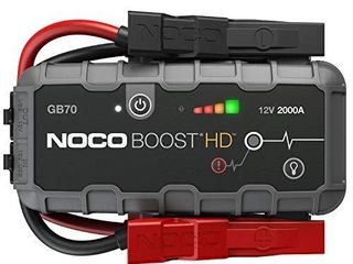 NOCO Boost HD GB70 2000 Amp 12 Volt UltraSafe lithium Jump Starter Box  Car Battery Booster Pack  Portable Power Bank Charger  and Jumper Cables For 8 liter Gasoline and 6 liter Diesel Engines