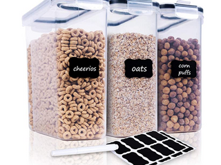 CHEF S CEREAl STORAGE CONTAINERS 3PIECE SET