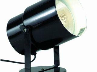 Satco SF77 394 Multi Purpose Portable Plant or Pin Up Spot light  Steel  l 4 25  W 6 75  H 5 75  D 4 25  Black Finish