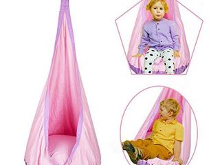 Kids Pod Swing Seat Hammock 100  Cotton Child Hammock Chair for Indoor and Outdoor use  Pink