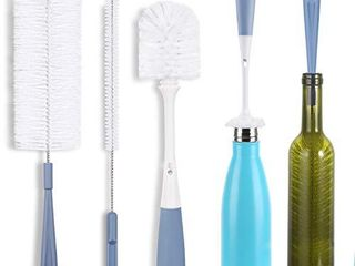 Bottle Cleaning Brush Set   long Water Bottle and Straw Cleaning Brush   Kitchen Scrub Cleaner Set for Narrow Neck Beer Brewing Supplies  Sports Water Bottles  Straws Baby Bottles  Cups  Set of 3