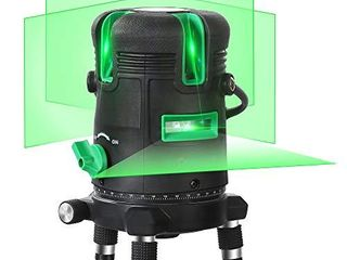 Self leveling Green Beam laser level Horizontal Vertical Cross line lazer Rechargeable leveler Tool for Construction Ceiling Tile Picture Hanging Framing Wall Cabinet with 360 Degree Rotating Base