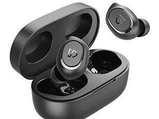 SoundPEATS Wireless Earbuds TrueFree2 Bluetooth 5 0 Headphones in Ear Stereo TWS Sports Earbuds  IPX7 Waterproof  Customized Ear Fins  USB C Charge  Monaural Binaural Calls  20 Hours Playtime