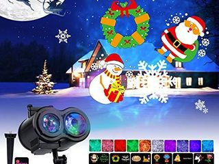Holiday Projector lights Outdoor 26 HD Effects  3D Ocean Wave   Patterns  Waterproof with RF Remote Control Timer for Easter Indoor Night Gathering Disco Party  RGB   Multicolor