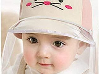 Two Style Design Baby Mouse Kids Sun Full Face Hat Removable Windproof Dustproof Cap for Outdoor  18 9 19 7   fit 1 to 2 Years Old  Pink