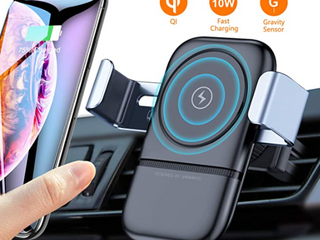 VANMASS Wireless Car Charger Mount  Automatic Clamping Gravity Sensor Car Phone Mount  10W 7 5W Qi Fast Charging Air Vent Phone Holder Compatible with S10 S9 Note 10 9  Phone 11 Pro Max Xs XR X 8