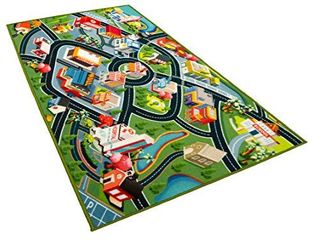 Kids Carpet Playmat Rug   Fun Carpet City Map for Hot Wheels Track Racing and Toys   Floor Mats for Cars for Toddler Boys  Bedroom  Playroom  living Room Game Play Mat for little Children