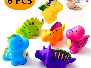Bathtub Toys Dinosaur Baby Bath Toys  Fun Squirt Toys Floating Bathroom Toys Perfect Children Gift for Kids Infant Toddlers 6pcs