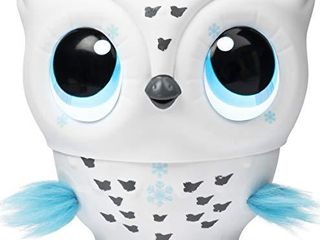 Owleez  Flying Baby Owl Interactive Toy with lights and Sounds  White  for Kids Aged 6 and Up