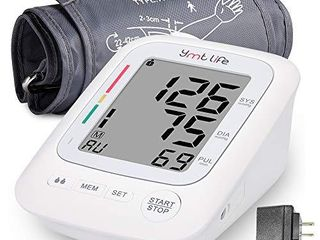 Home Blood Pressure Monitor Upper Arm Blood Pressure Device with lCD Screen Premium Home Health Gadget Resistant Cuffs for Regular and large Arms Easy to Use   Read