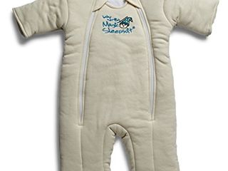 Baby Merlin s Magic Sleepsuit   Swaddle Transition Product   Cotton   Cream   6 9 Months