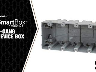 Madison Electric Products MSB4G Four Gang Device Box with Depth Adjustable  Heavy Duty 42lb