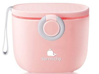 Termichy Baby Formula Dispenser  Portable Milk Powder Dispenser Container with Carry Handle and Scoop for Travel Outdoor Activities with Baby Infant  500ml  Pink