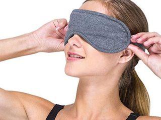 Cottonique Hypoallergenic Sleep Eye Mask Made from 100  Organic Cotton  Melange Grey  Free Size
