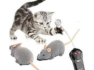 Fusicase Toys  Fashion Cool Style New Remote Control Rat Mouse Wireless Toy for Cat Kitten Dog Pet Novelty Gift Trick Playing with Cat Gray