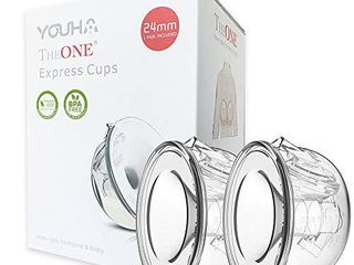 YOUHA Closed System Breast Milk Collection Cups  Pump with Your Clothes On  On The Go  Anywhere  Anytime  24Mm
