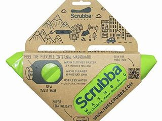 Scrubba Portable Wash Bag Hand Washing Machine for Hotel and Travel light and Small Eco Friendly Camping laundry Bag for Washing Clothes Anywhere